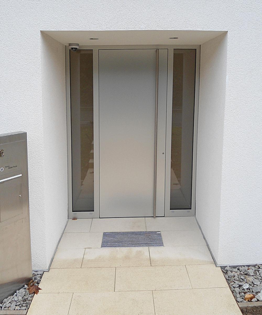 Eingang in Stahl und Edelstahl LEIN BAU GmbH