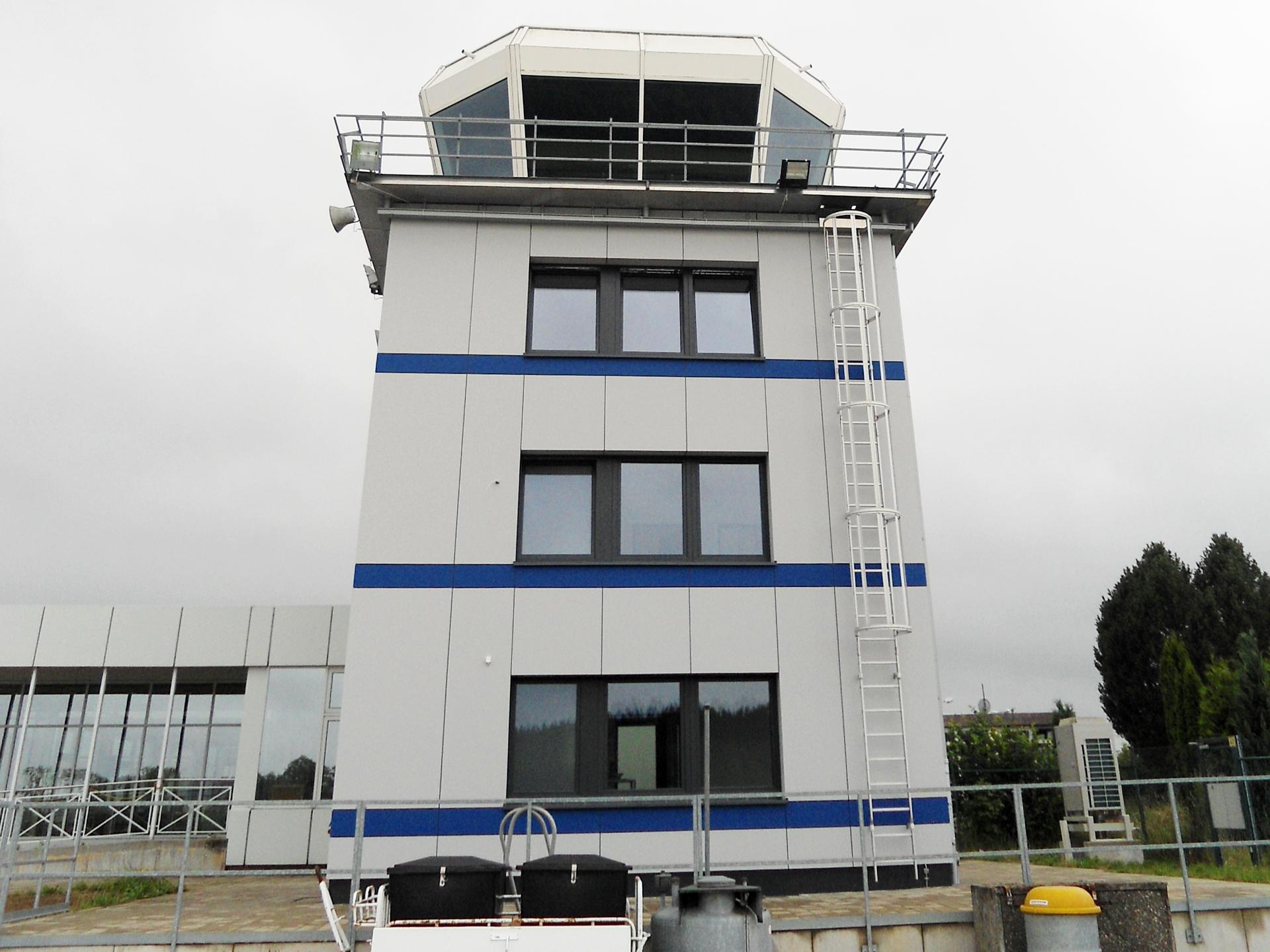 Kernsanierung Tower Flughafen Hof Plauen